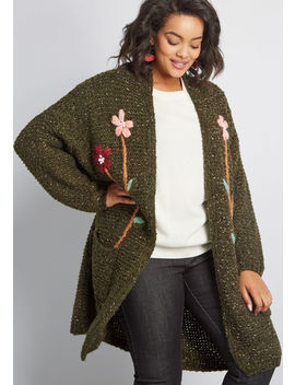 Branch Out To Nature Floral Cardigan by Compania Fantastica