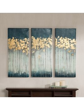 Madison Park Midnight Forest Gel Coat Canvas 3 Pc. Wall Art Set by Kohl's