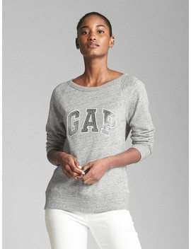Metallic Logo Pullover Sweatshirt In French Terry by Gap