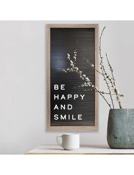 """New View 20"""" X 10"""" Black Letter Board Wall Decor 190 Piece Set by Kohl's"""