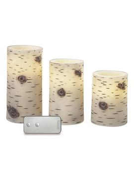 Apothecary Flameless Faux Birch Led Candle & Remote 4 Piece Set by Kohl's