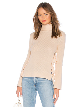 Hally Lace Up Sweater by Lovers + Friends