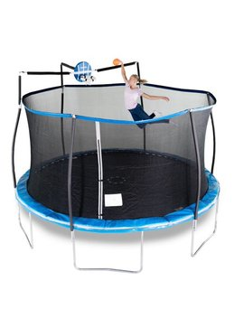 Bounce Pro 14 Foot Trampoline, With Slama Jama Basketball, Blue by Bounce Pro
