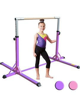 Xtek Gym Pro Gymnastics Bar   Adjustable Height Kip Bar With Added Stability, Premium Gymnastics Equipment Home Training   Gymnastic Bar by Xtek Gym