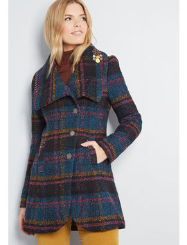 Call On Charisma Plaid Coat by Joe Brown