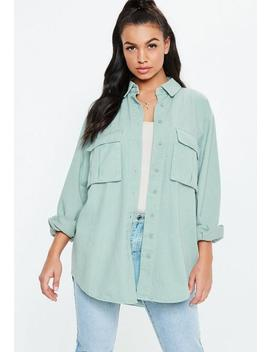 Teal Utility Shacket by Missguided