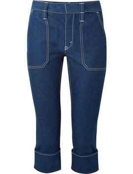 Cropped High Rise Straight Leg Jeans by Chloé