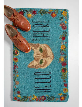 Hello There Cat Doormat by Modcloth