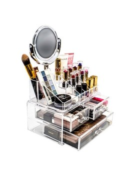 Sorbus Makeup Storage Organizer With Magnifying Mirror by Sorbus