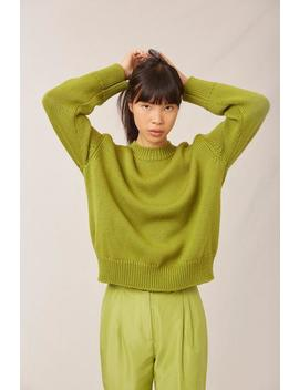 Wool Oversized Crewneck by Mansur Gavriel