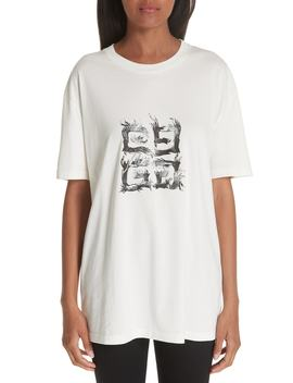 Flame Logo Oversize Tee by Givenchy