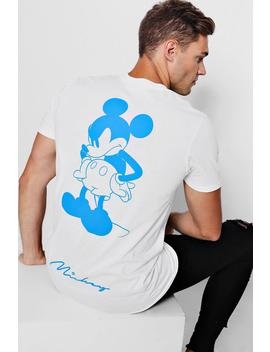 Disney Mickey Back Print Crew Neck T Shirt by Boohoo