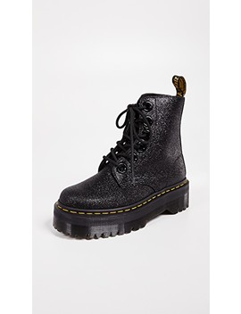Molly Glitter 6 Eye Boots by Dr. Martens