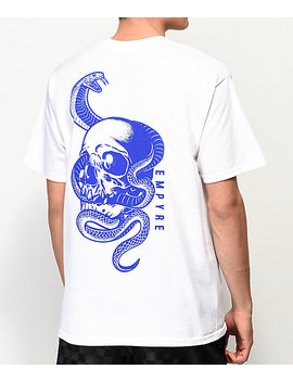 Empyre Serpents White T Shirt by Empyre
