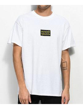 Gosha X Mumiy Troll Script White T Shirt by Gosha X Mumiy Troll