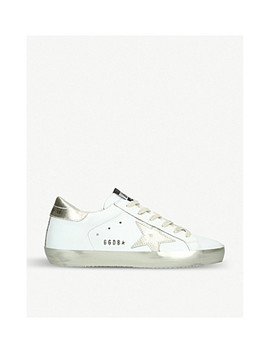Superstar E37 Sparkle Leather Sneakers by Golden Goose