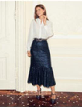 Sequin Midi Skirt by Boden