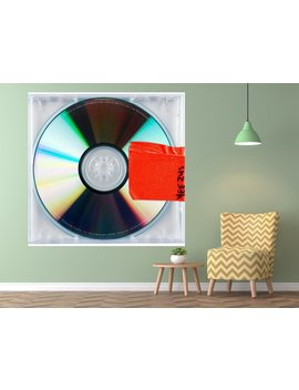 "Kanye West Yeezus Poster Hip Hop 2013 Album Cover Art Silk Print Home Decor   Size 12x12"" 20x20"" 24x24"" 27x27"" 32x32"" by Etsy"