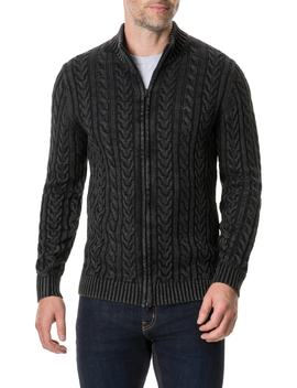 Northope Cable Zip Cardigan by Rodd & Gunn