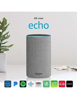 Certified Refurbished All New Echo (2nd Generation) With Improved Sound, Powered By Dolby, And A New Design – Heather Gray Fabric by Amazon