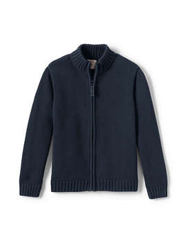 Boys Drifter Zip Front Cardigan by Lands' End
