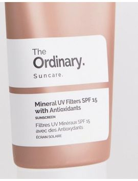 The Ordinary   Mineral Uv Filters Spf 15 Met Antioxidanten by Asos