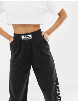 Missguided X Fanny Lyckman   Joggingbroek Met Slogan In Zwart by Asos