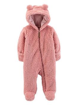Baby Girls Footed Fleece Pram by Carter's