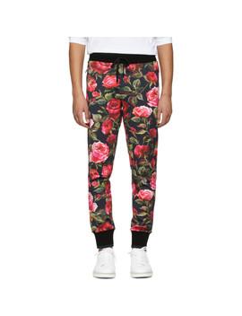 Black Rose Sweatpants by Dolce & Gabbana