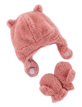 Baby Girls 12 18 M Fleece Hat & Mittens Set by Carter's