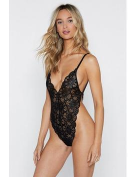 I Just Want To Make Love To You Lace Bodysuit by Nasty Gal