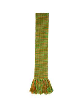 Green & Orange Tassel Scarf by Acne Studios