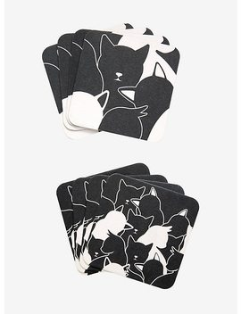 Black & White Cat Coaster Set by Hot Topic