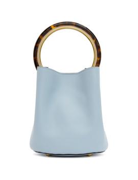 Blue Mini Pannier Bucket Bag by Marni