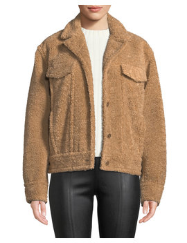 Button Front Sherpa Trucker Jacket by Vince