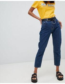 Темно синие классические джинсы в винтажном стиле Pull&Bear by Asos