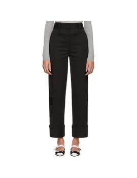 Black Straight Trousers by Prada