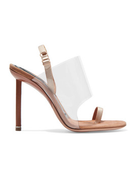 Kaia Pvc And Suede Slingback Sandals by Alexander Wang