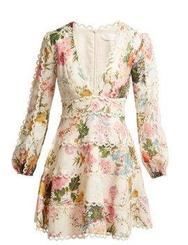 Heathers Floral Print Linen Dress by Zimmermann