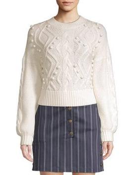 Brie Crop Wool Sweater by Amur