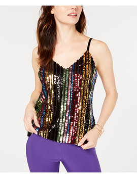 I.N.C. Petite Rainbow Sequin Camisole, Created For Macy's by Inc International Concepts