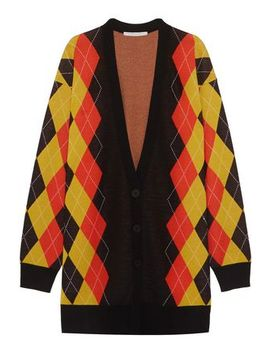 Oversized Argyle Wool Cardigan by Stella Mc Cartney