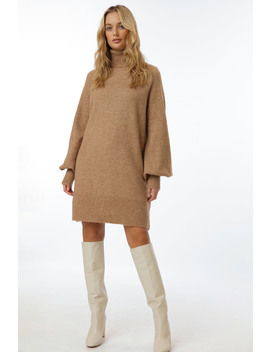 Turtleneck Knit Dress (Preorder) by Chiquelle