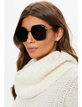 Quay Australia X Finders Keepers Undercover Black Sunglasses by Missguided