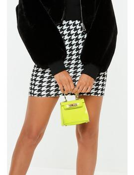 Lime Neon Mini Handbag by Missguided