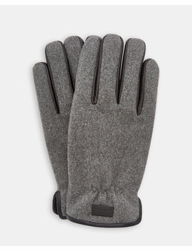 Leather Trim Gloves by Ted Baker