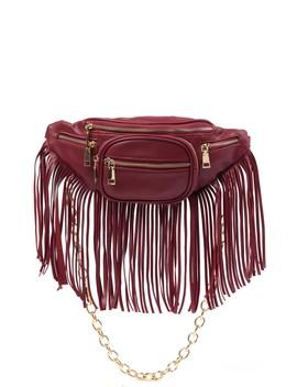 Front Zip Chain Belt Bag by Raj Imports