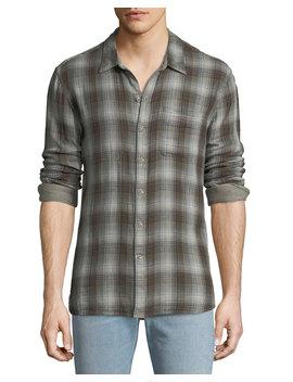 Men's Reversible Sport Shirt, Brown by John Varvatos Star Usa