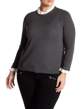 Mixed Media Sweater (Plus Size) by 14th & Union