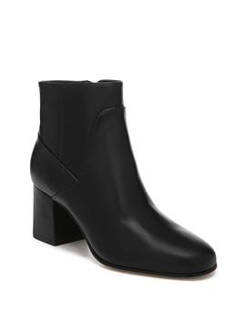 Magali Leather Block Heel Bootie by Via Spiga